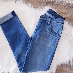 Womens Hudson Bacara Crop Straight Cuffed Jeans